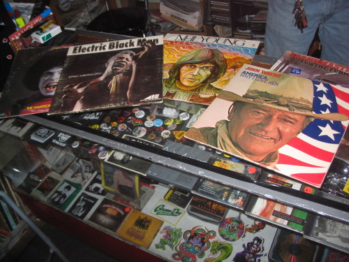 Records on the counter
