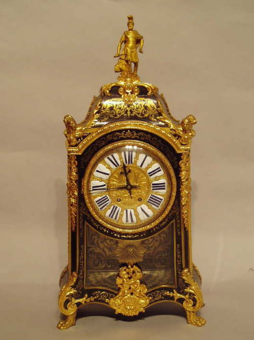 French regence style boulle mantle clock